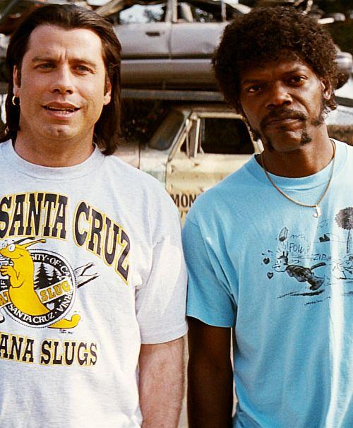 Pulp Fiction.. Hey, John is wearing a T-Shirt from my home town!  http://www.bijouxmrm.com/ https://www.facebook.com/marc.rm.161 https://www.facebook.com/Bijoux-MRM-388443807902387/ https://www.facebook.com/La-Taillerie-du-Corail-1278607718822575/ https://fr.pinterest.com/bijouxmrm/