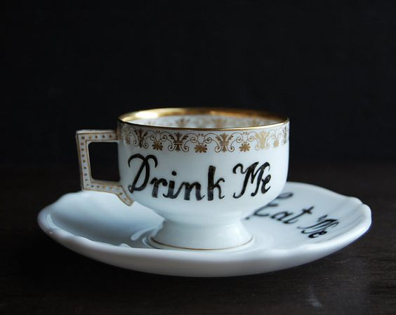 Although this post isn't a 'how/to' -this is totally make-able starting with a vintage or ooak cup and saucer. Easy.  :) and fun.