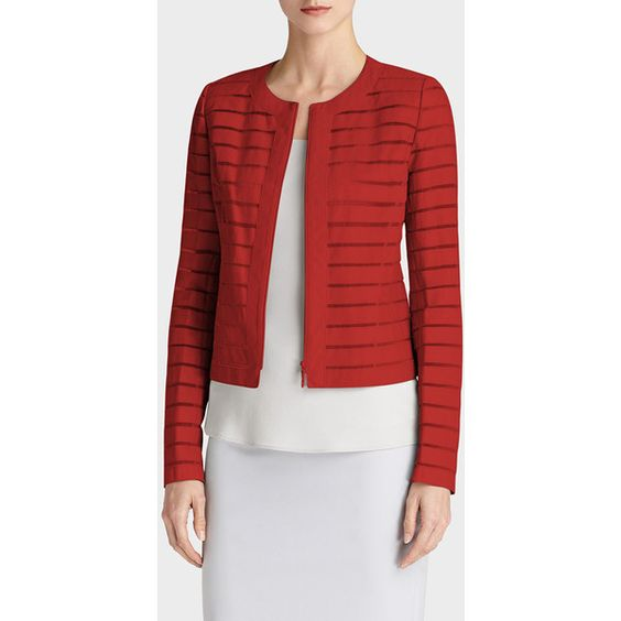 Lafayette 148 New York Tissue Weight Lambskin Catrice Jacket (3.460 NOK) ❤ liked on Polyvore featuring outerwear, jackets, rosehip, lamb leather jacket, lambskin leather jacket, red jacket, lambskin jacket and red zip jacket