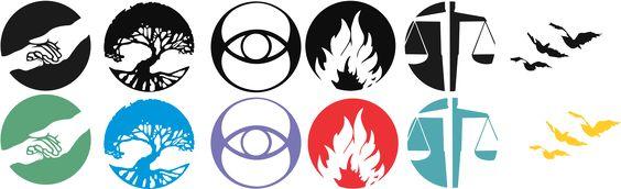 Símbolos film 'Divergente' sobre fondo transparente: http://adrianojpn.blogspot.com.es/2014/05/veja-os-simbolos-das-faccoes-do-filme.html