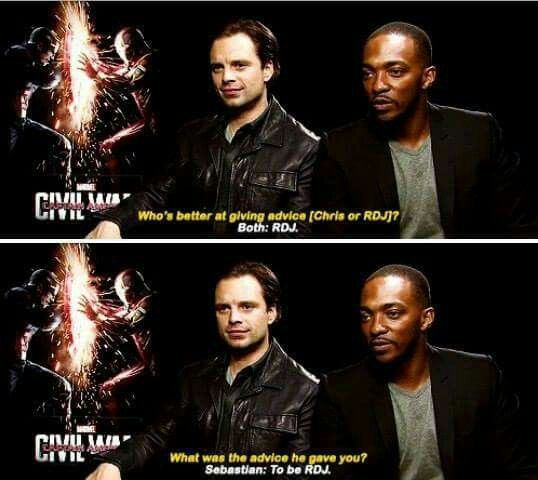 Sebastian Stan and Anthony Mackie - Captain America : Civil War - Visit to grab an amazing super hero shirt now on sale!