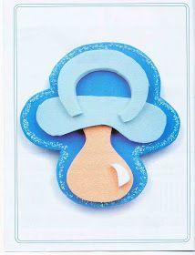 Quem está a procura de lembrancinhas para recém-nascido??     Vamos aprender a fazer uma chupetinha de EVA para lembrancinhas de chá de beb...