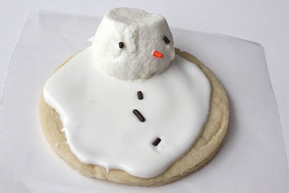 Christmas Traditions: Melted Snowman Sugar Cookies