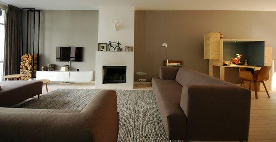 woonkamer en werkplek DockZ Interieurarchitect