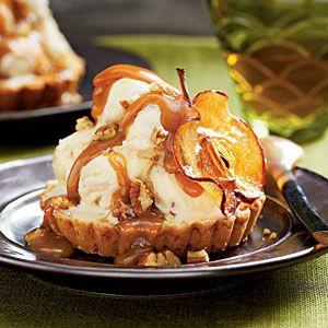 Caramel Apple Ice-cream Tarts | DiyBaker.com