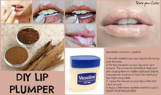 DIY lip plumper cinnamon vasaline