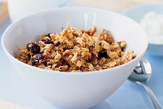 Love this Toasted Muesli recipe. I just add my own combo of natural nuts and seeds (almonds, cashews, Brazil, pecan, hazelnuts & pepitas) and omit the fruit. Delish!
