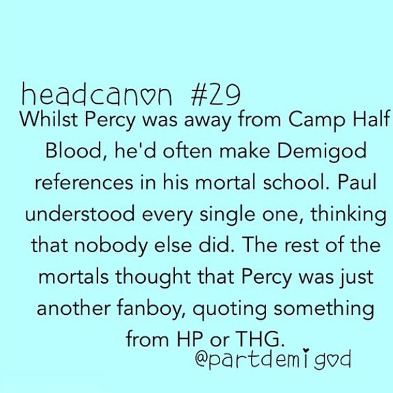 Percy Jackson: Our fellow fanboy