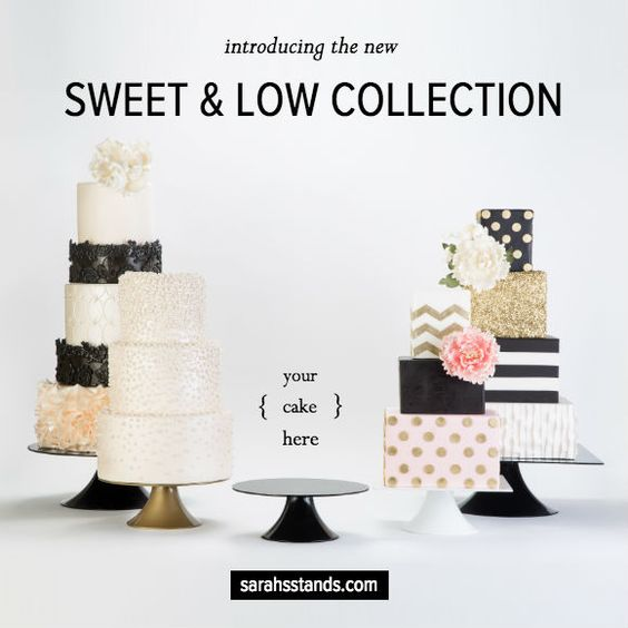 New Cake Stands are here!! They come in and round, square and start at only 65$. The cakes are from the amazing Gimmie Some Sugar in Las Vegas. #sweet&low, #sarahsstands, #cakestands,