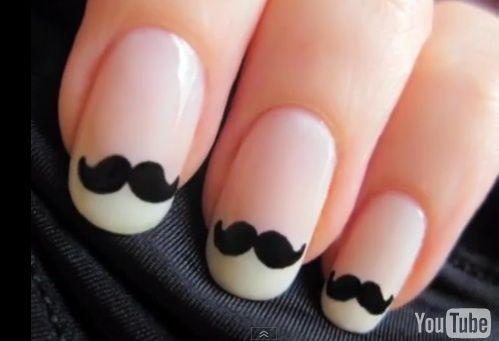love fun nail art - i mustache you where you got you nails done