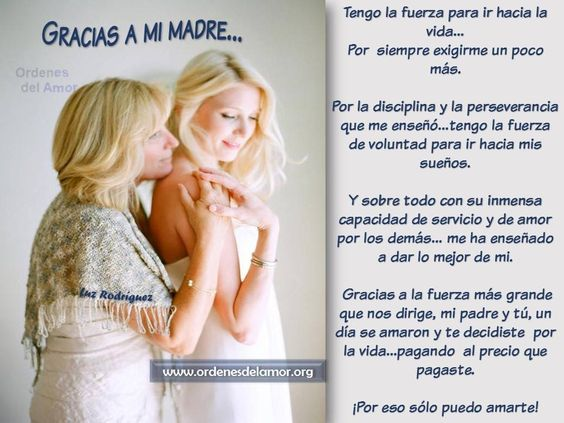 Gracias a mi madre........