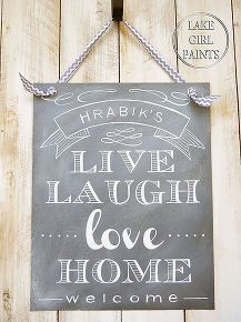 chalkboard look on canvas, chalkboard paint, crafts, home decor, painting