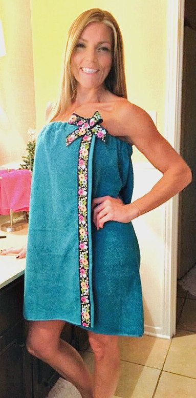 Imagine wrapping yourself up in a spa wrap after a long day!  When you are looking for comfort, look no more! This towel wrap is not only soft and comfortable, but it is cute and sassy too. www.wrapsandmoreboutiques.com: