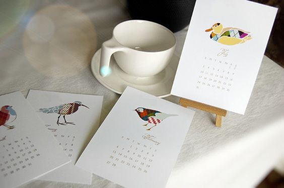 Printable+Whimsical+Mini+Calendar+2014++You+Print++by+theinknest,+€7.93