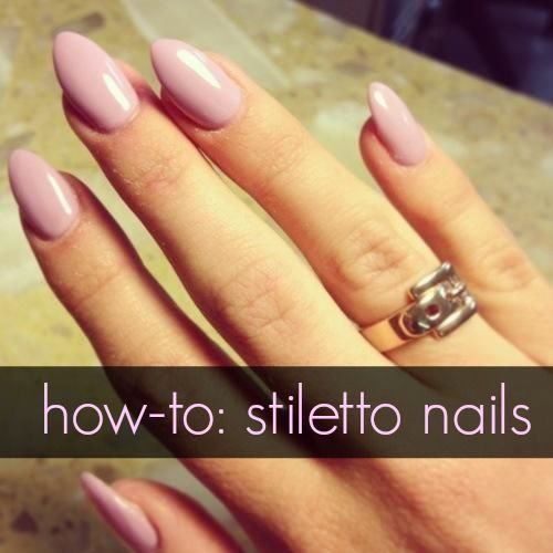 how to do stiletto nails