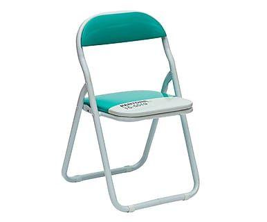 Baby sedia pieghevole in metallo Pantone 15-5519 turchese - 33x56x33 cm
