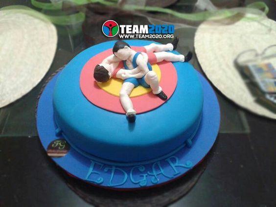 Wrestling Luchador Cake