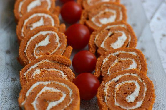 Les petits plats de Rose: Roulé à la tomate et au fromage frais