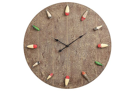 "24"" Fishing Lure Clock on OneKingsLane.com"