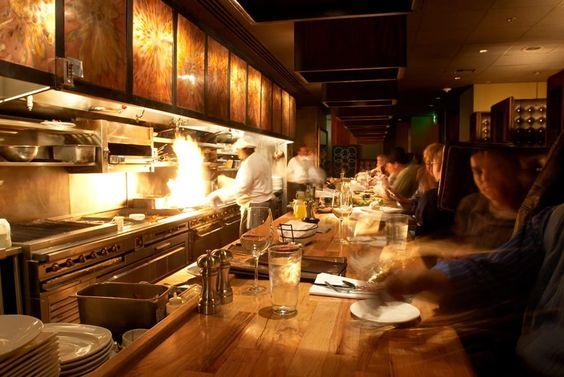 Open Kitchen Hospitality Interior Design Of 13 Coins Restaurant Seattle Italian Restaurant