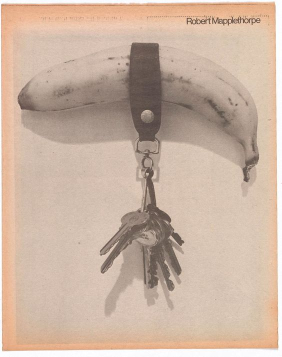 Banana & Keys (1974); Robert Mapplethorpe's first published photograph; appeared in a special photo issue of Andy Warhol's Interview magazine in November 1975. © Robert Mapplethorpe Foundation