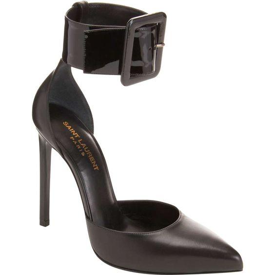 Saint LaurentPoint Toe Ankle Strap Pump