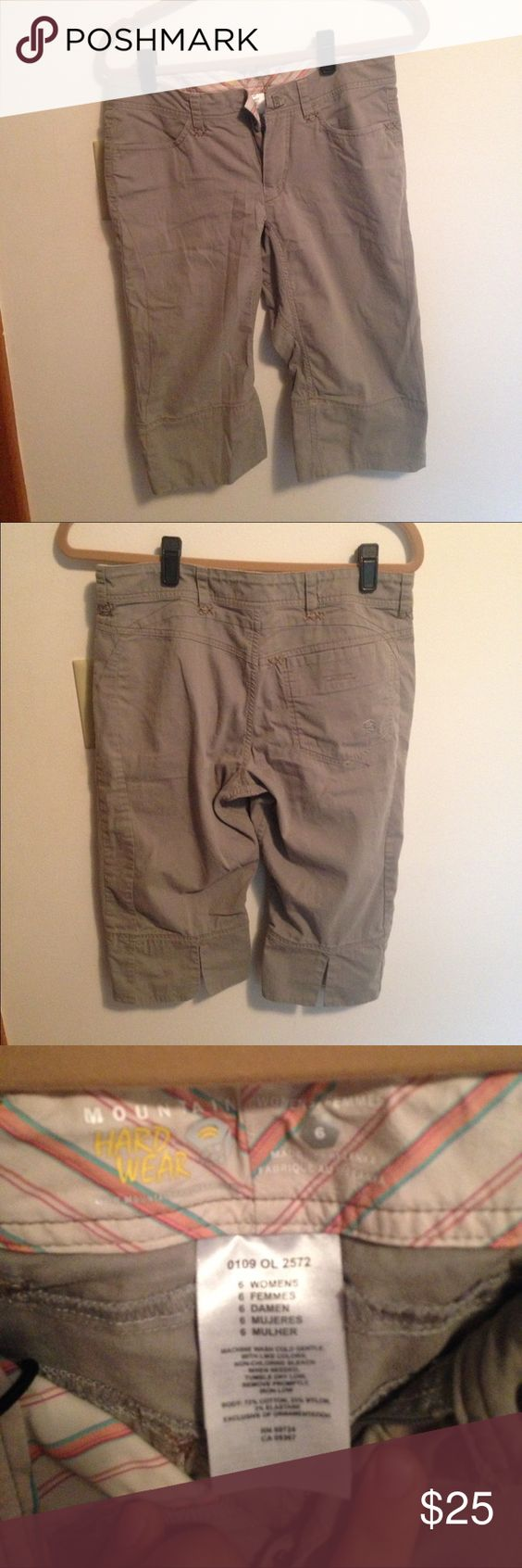 Mountain Hard Wear Hiking Shorts Great shorts for being outside and hiking in! Made of great material that is very durable and is able to be very flexible. Worn a couple times, but not often at all. Mountain Hard Wear Shorts Bermudas