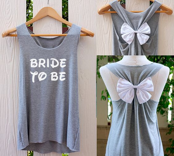 BRIDE-TO-BE Bow Tank Top. Racerbackbow. Bride to por TheClover88