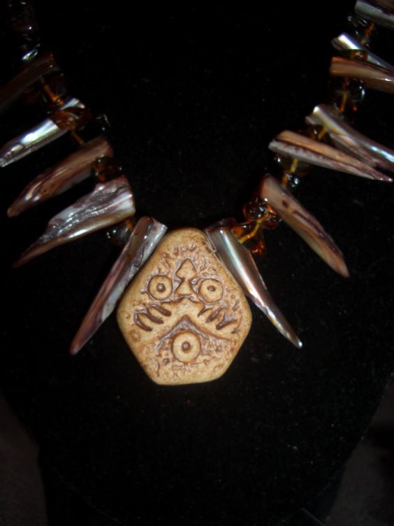 Tribal Necklace by LLcrafting on Etsy, $20.00
