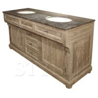 36x24x63 reclaimed pine blue stone top Large Double Vanity W/ Bluestone MSRP $3400. Contractor Price $1399