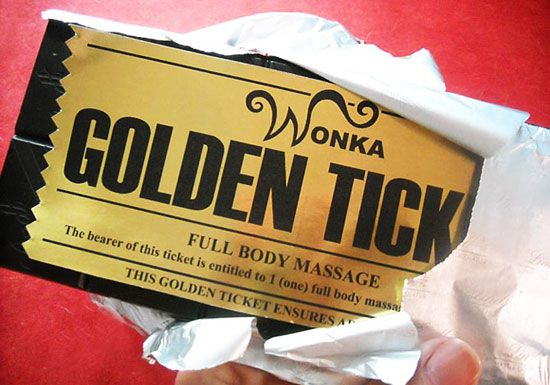 Surprise your sweetie with a golden love ticket—free template to download!