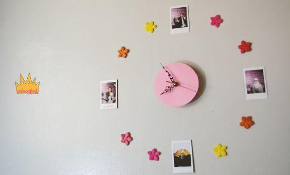 DIY N3 friendship clock With Instax mini 8ساعة بصور الكاميرا الفورية إنستاكس
