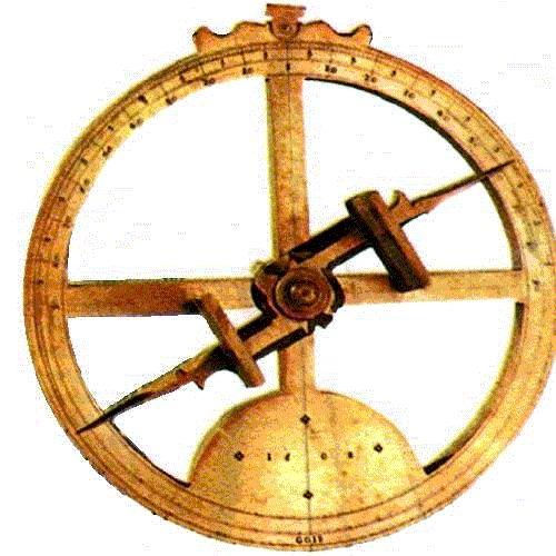 O astrolábio era um instrumento naval antigo, usado para medir a altura dos astros acima do horizonte e para determinar a posição dos astros no céu, tendo sido usado, durante muito tempo, como instrumento para a navegação marítima.