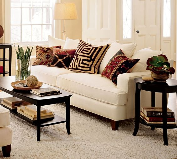 African fabric cushions