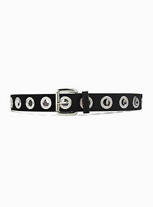 Grommet Belt, BLACK