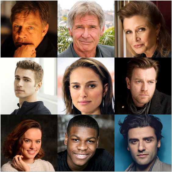 The Whole Cast of Star Wars by: @savannahileese