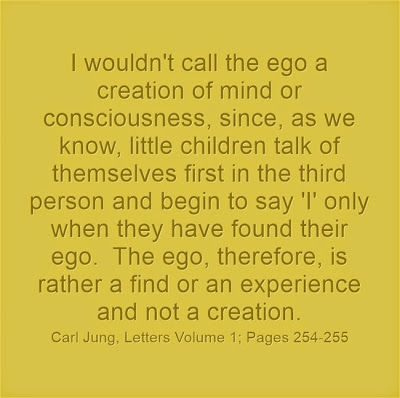 I wouldn't call the ego a creation of mind or consciousness, since, as we know, little children talk of themselves first in the third person...