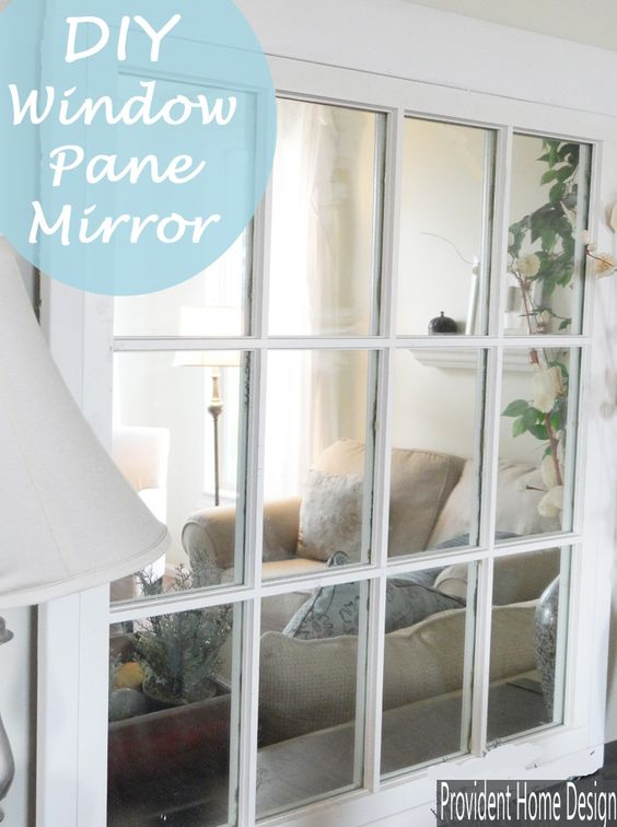 Diy Window Pane Mirror Pottery Antique Show And Window