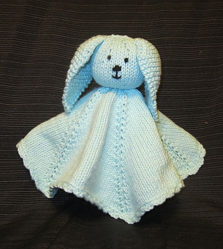 Bunny Blanket Knitting Pattern : Ravelry: Bunny Blanket pattern by Karen Van Harten Knitting Patterns Pint...