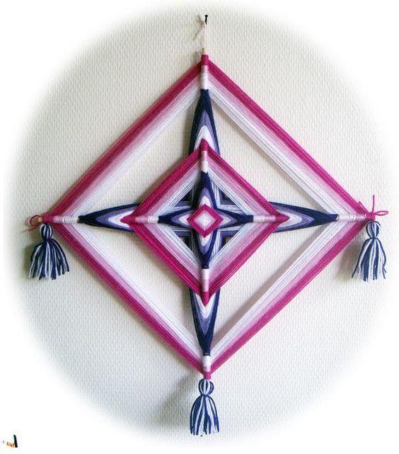 ojo de dios roze en paars