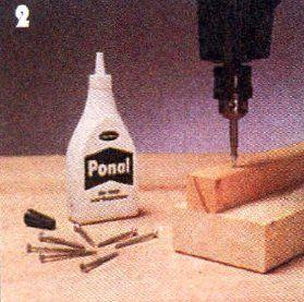 прикрепляем бруски для укладки реечного основания