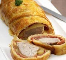 Recette - Filet mignon de porc en croûte, bacon et raclette nature Richesmonts - Notée 4.2/5 par les internautes