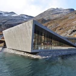 Stunning visitor's pass in Norway has a harsh geometric design.