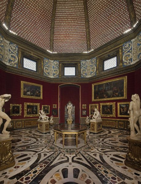 Great advice from the curator. I would also recommend buying an official guide to the Uffizi museum off of amazon (very inexpensive) before you go to familiarize yourself with the treasures inside. The ornate interior of Florence's Uffizi Gallery.: