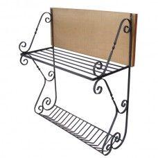 Paneleiro Rústico de Parede, modelo Curvo com Porta-Pratos