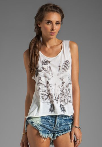 SPELL & THE GYPSY COLLECTIVE Gypsy Outlaw Tee in Cream
