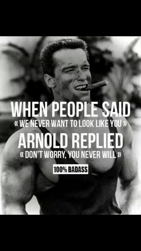 Arnold Schwarzenegger Quotes. Had such a crush on this man when I was a teenager!