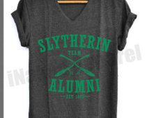 Slytherin Alumni Shirt Harry Potter Shirts V-Neck Unisex S M L