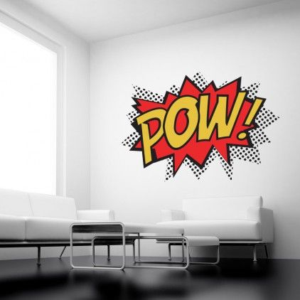 POW! Wall stickers Full Colour Wall Quote by Serious Onions Ltd at Bouf.com