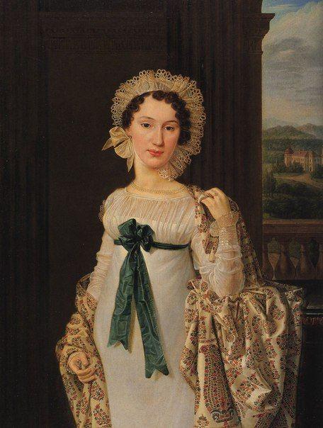 Модные наряды 1818 года